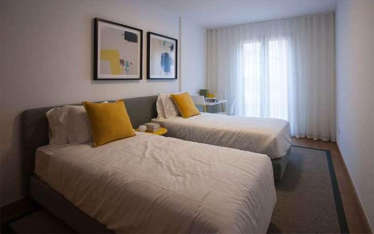inspirasi interior apartemen kamar tidur