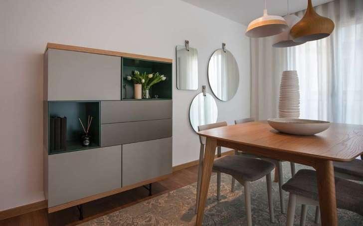 inspirasi interior apartemen ruang makan